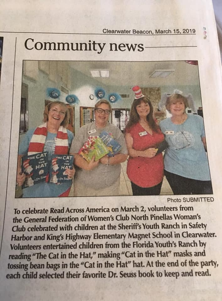 GFWC North Pinellas Woman's Club celebrates Read Across America